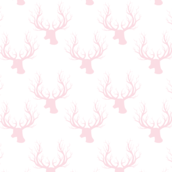 Little Deer Silhouette in Soft Pink