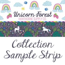 Unicorn Forest Sample Strip
