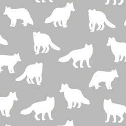 Fox Silhouette in Pebble