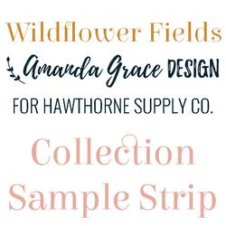 Wildflower Fields Sample Strip