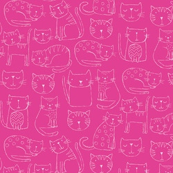 Kitty Outline in Pink