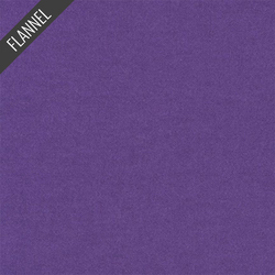 Flannel Solid in Eggplant