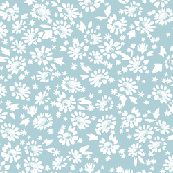 Daisies in Powder Blue