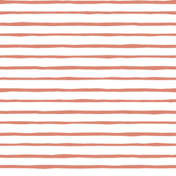 Artisan Stripe in Desert Rose on White