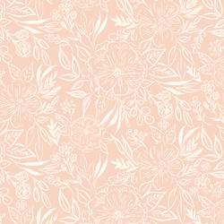 Floral Sketch in Pink Bloom