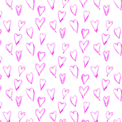 Hearts a Mess in Pink Taffy