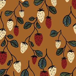 Wild Strawberries in Honey Brown