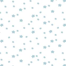 Star Light in Powder Blue on White