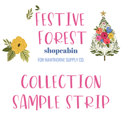 Festive Forest Sample Strip