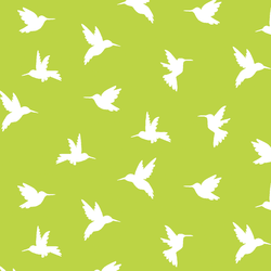 Hummingbird Silhouette in Lime