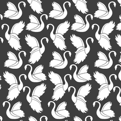 Swan Silhouette in Onyx