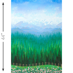 Mountainscape Single Border in Day