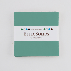 Bella Solids Charm Pack in Betty Teal