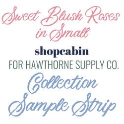 Sweet Blush Roses Sample Strip Small