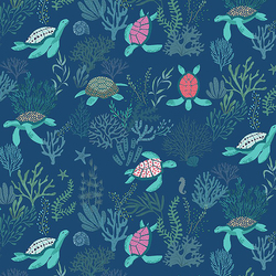 Turtley Awesome in Navy