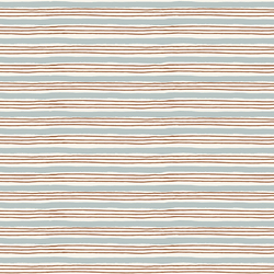 Painterly Stripes in Sky Blue