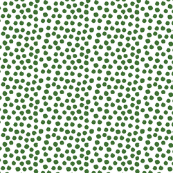 Painted Dot in Green Apple on White