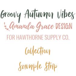 Groovy Autumn Vibes Sample Strip