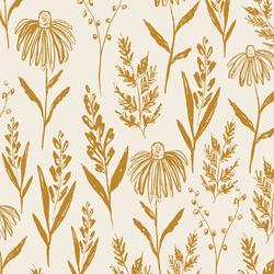 Big Perennials in Golden on Cream