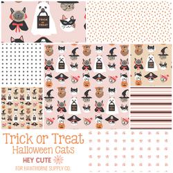 Trick or Treat Halloween Cats Fat Quarter Bundle