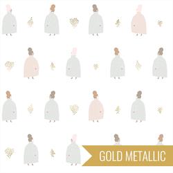 Coat Ladies in Soft White Metallic