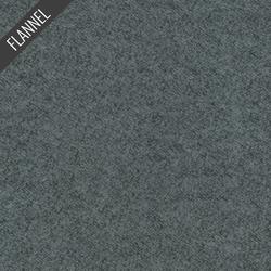 Shetland Melange Flannel in Jet