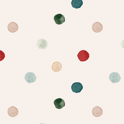 Large Painted Polka Dot in Cream