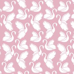Swan Silhouette in Carnation