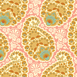 Large Paisley in Blush