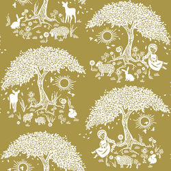 A Mystical Forest in Gold