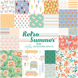 Retro Summer Fat Quarter Bundle Big Scale
