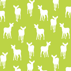 Fawn Silhouette in Lime