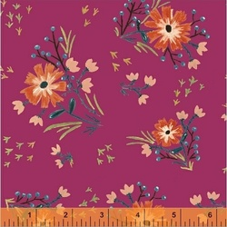 Large Floral in Fuchsia