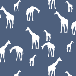 Giraffe Silhouette in Midnight