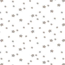 Star Light in Taupe on White