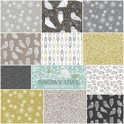Snowy Owl Fat Quarter Bundle in Night