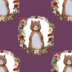 Woodland Bear in Plum