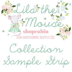 Lila the Mouse Sample Strip
