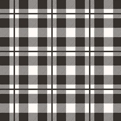Yes Please Plaid in Black