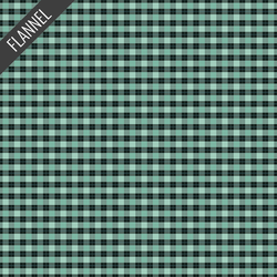 Plaid Flannel in Mint