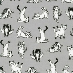 Playful Cats in Grey