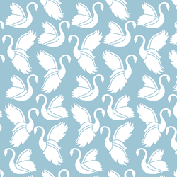 Swan Silhouette in Bluebell