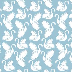Swan Silhouette in Bluebell