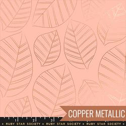 Leafy in Metallic Peach