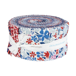 """The Carnaby Collection 2.5"""" Strip Roll in Retro Indigo"""