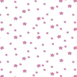 Star Light in Wisteria on White