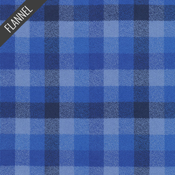 Mammoth Wide Ombre Check Flannel in Royal