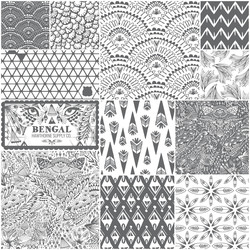 Bengal Fat Quarter Bundle in Charcoal