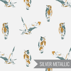 Wise Owl in Chalk Metallic
