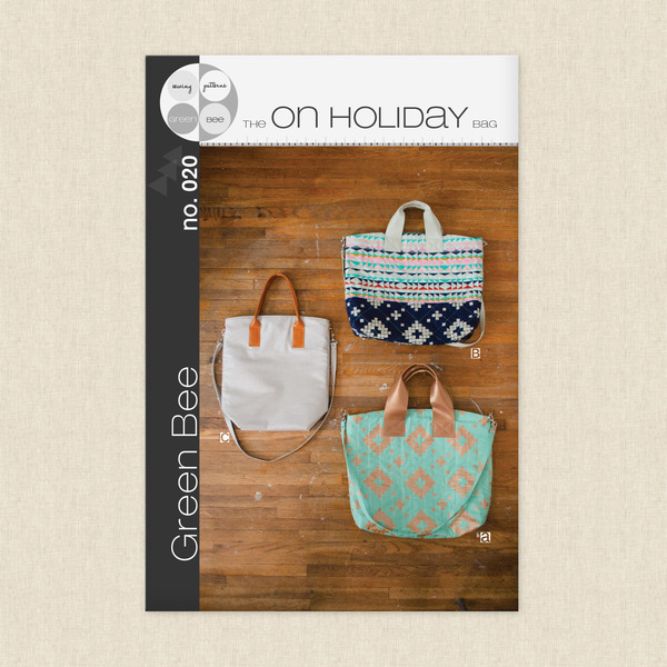 On Holiday Bag Sewing Pattern by Green Bee Design at Hawthorne Supply Co